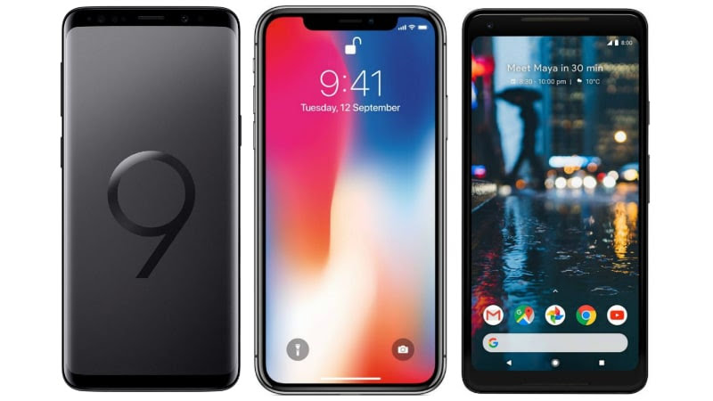Samsung Galaxy S9+ vs Apple iPhone X vs Google Pixel 2 XL: Price, Specifications Compared